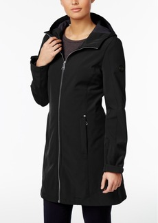 Calvin Klein Hooded Water-Resistant Lightweight Raincoat