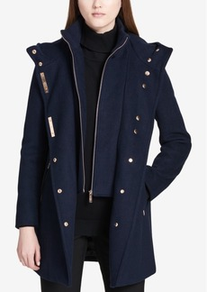 Calvin Klein Hooded Wool-Blend Walker Coat