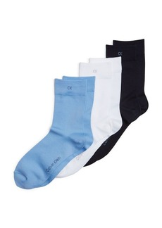Calvin Klein Hosiery Light Touch Crew Socks, Set of 3