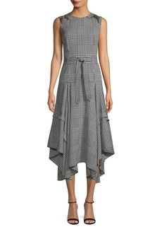 Calvin Klein Houndstooth Midi Dress