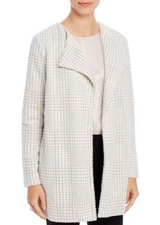 Calvin Klein Houndstooth Open Front Jacket