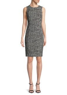 Calvin Klein Houndstooth-Print Sheath Dress
