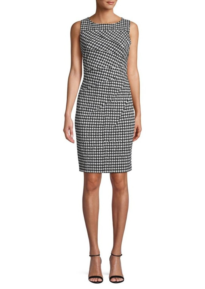 Calvin Klein Houndstooth Printed Sheath Dress