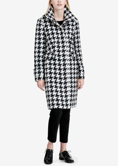 Calvin Klein Houndstooth Walker Coat