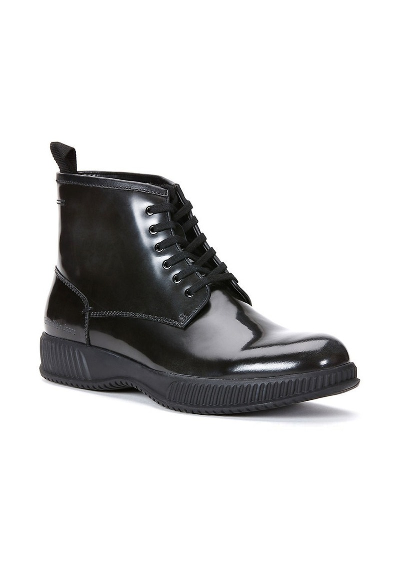 CALVIN KLEIN Hunt Patent Leather Boots