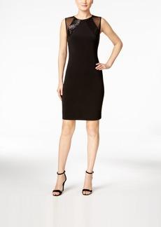 Calvin Klein Illusion Sequined Sheath Dress