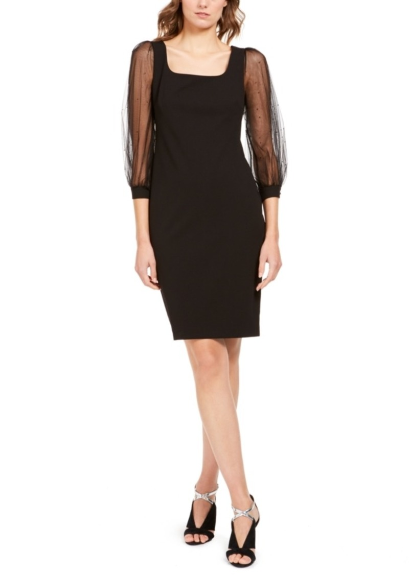 Calvin Klein Illusion-Sleeve Dress