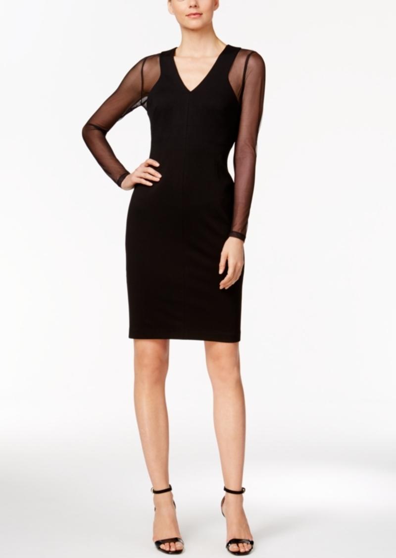 99d34ddc795dd Calvin Klein Calvin Klein Illusion-Sleeve Ponte Sheath Dress