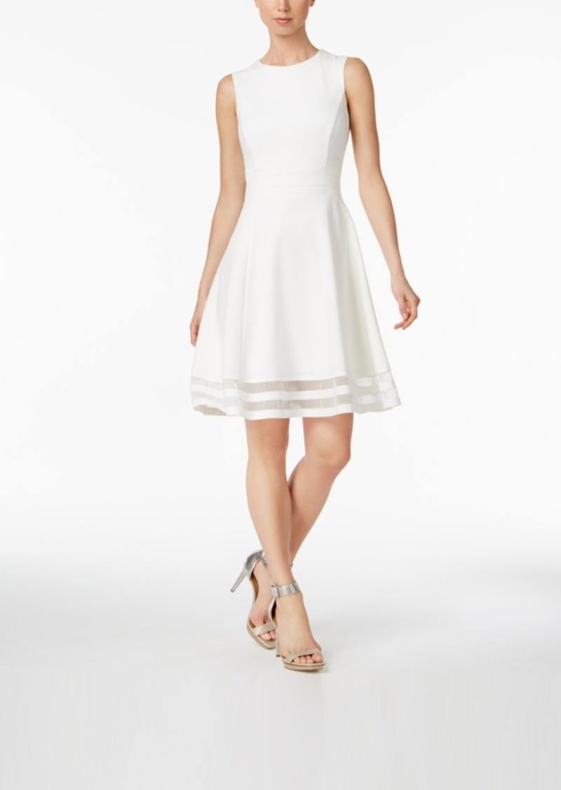 5ab0c5cb Calvin Klein Calvin Klein Illusion-Trim Fit & Flare Dress | Dresses