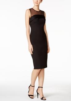 Calvin Klein Illusion Yoke Scuba Sheath Dress