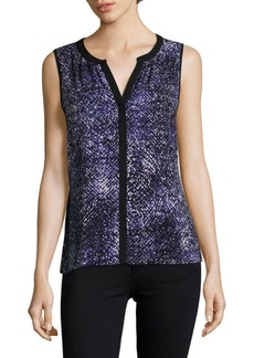 Calvin Klein Intricate Sleeveless Blouse