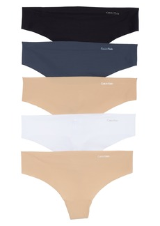 Calvin Klein 'Invisibles' Thongs (5-Pack)