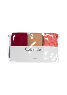 Calvin Klein Invisibles Thongs, Set of 3 #QD3558