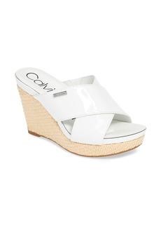 Calvin Klein Jacolyn Wedge Slide Sandal (Women)
