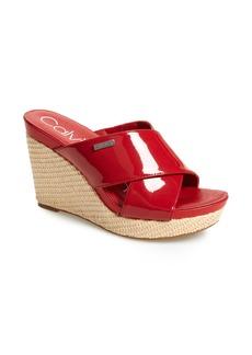 Calvin Klein Jacolyn Wedge Slide Sandal (Women)