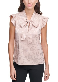 Calvin Klein Jacquard Bow-Neck Top
