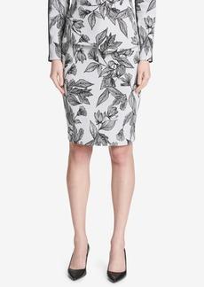 Calvin Klein Jacquard Pencil Skirt