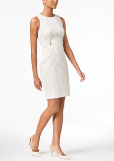 Calvin Klein Jacquard Sheath Dress