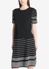 Calvin Klein Jacquard-Sleeve Sweater