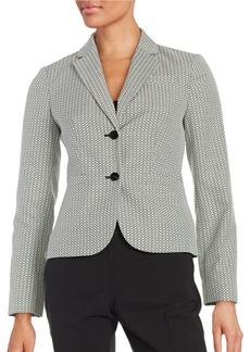CALVIN KLEIN Jaquard Two-Button Jacket