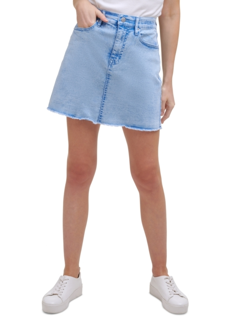 Calvin Klein Jeans Acid-Washed Jean Skirt