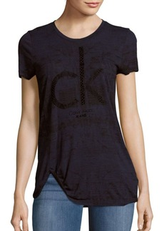 Calvin Klein Jeans Animal Flock Textured Tee