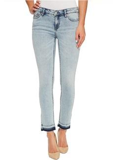 Calvin Klein Jeans Ankle Skinny Jeans in Isla Blue Destruct Wash