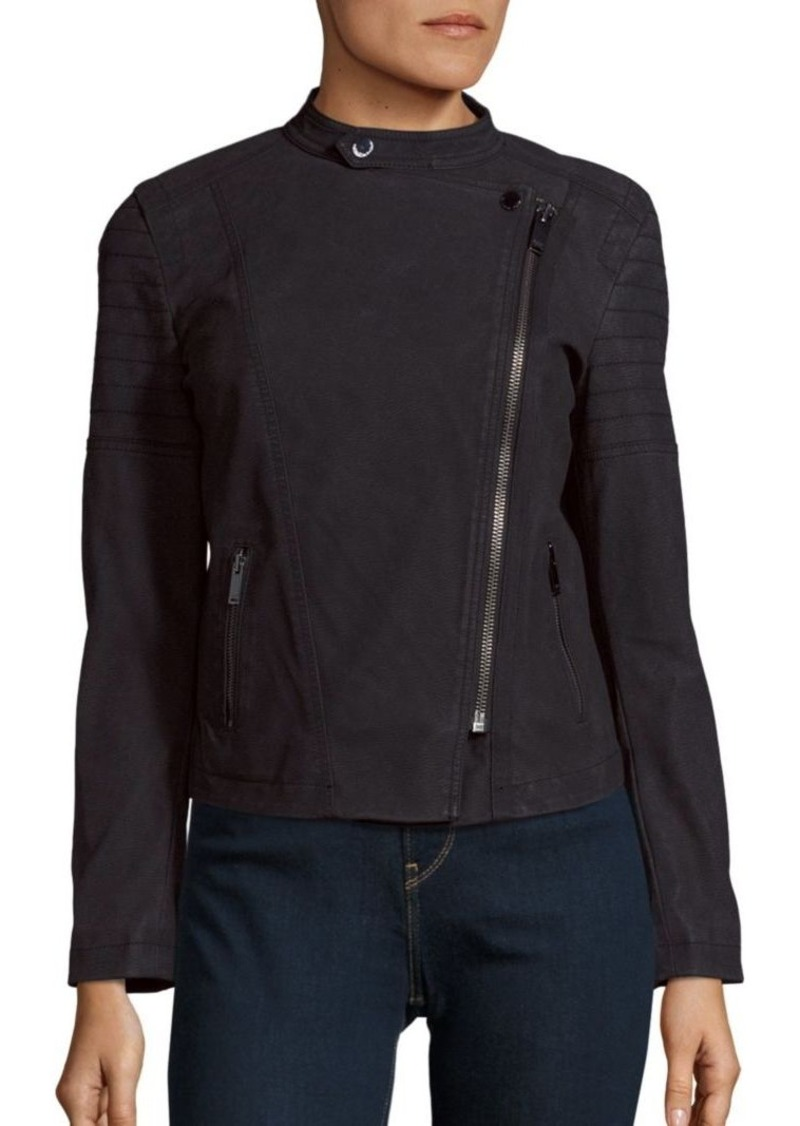 Calvin Klein Jeans Asymmetrical Front Cropped Jacket