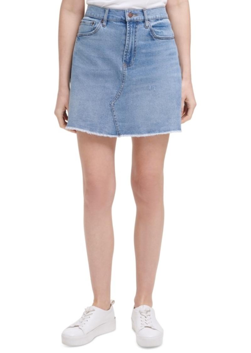 Calvin Klein Jeans Basic A-Line Jean Skirt