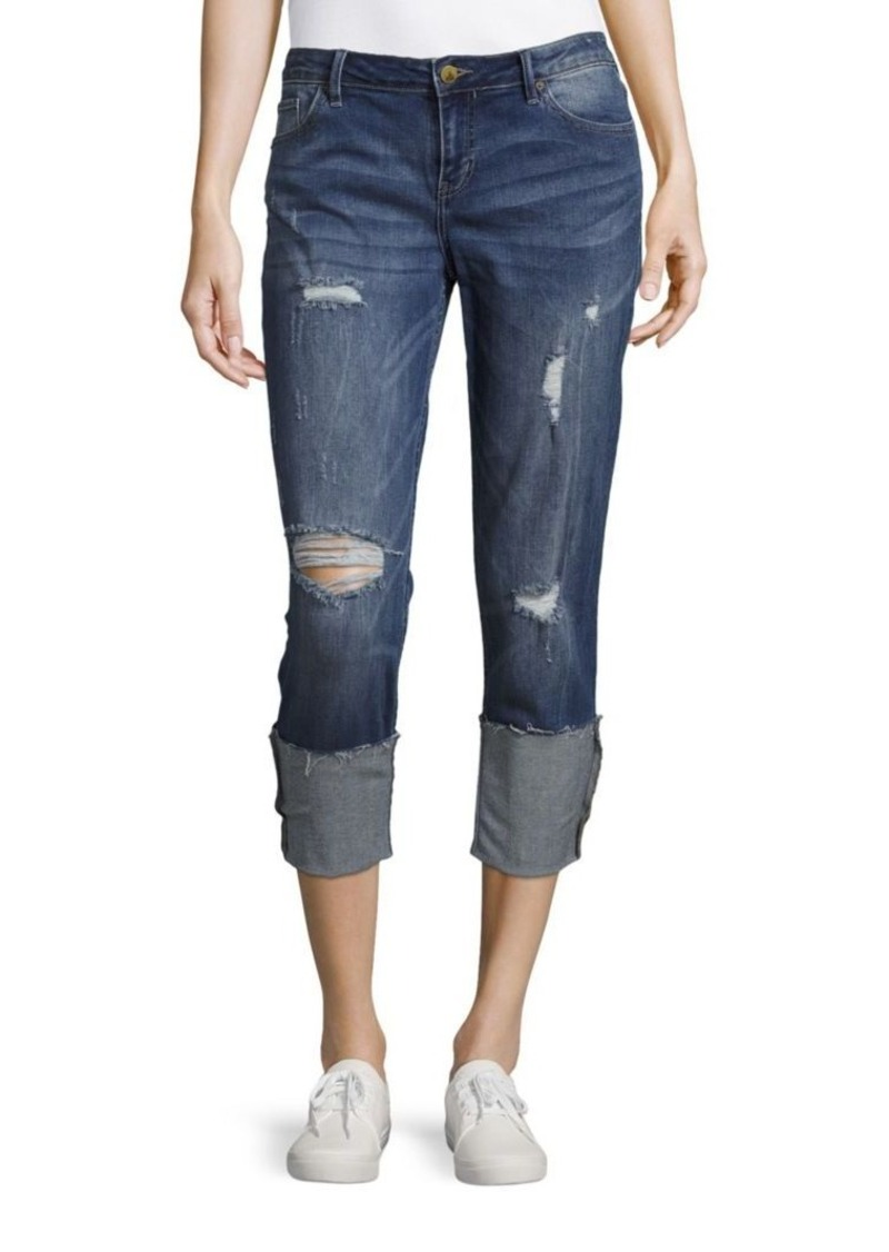 Calvin Klein Jeans Boyfriend-Fit Distressed Jeans