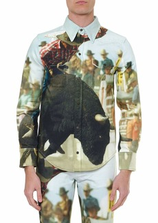 Calvin Klein Jeans Bull Landscape Multicoloured Cotton Shirt