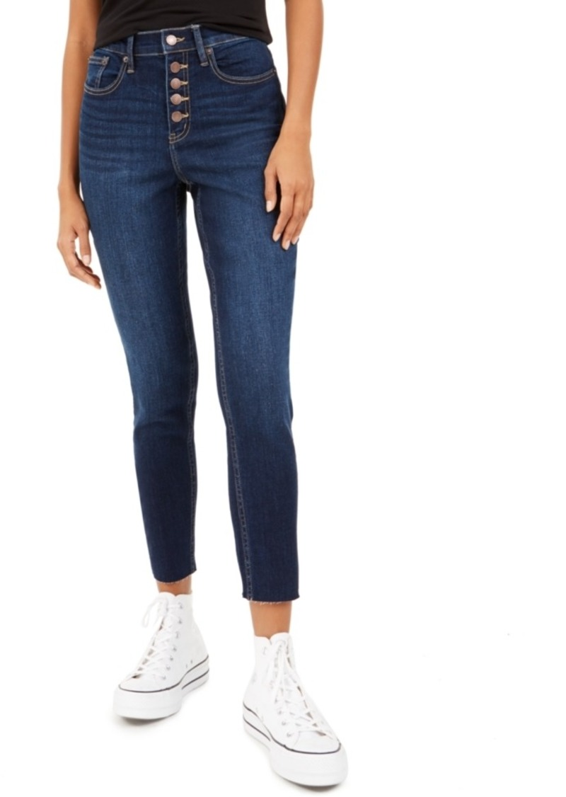 Calvin Klein Jeans Button-Fly Ankle Skinny Jeans