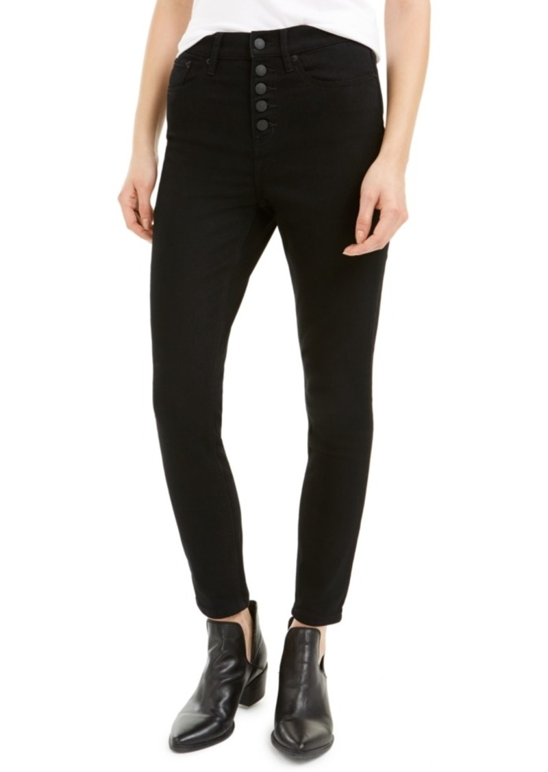 Calvin Klein Jeans Button-Fly High-Rise Skinny Jeans