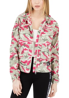 Calvin Klein Jeans Camo Print Rain Jacket