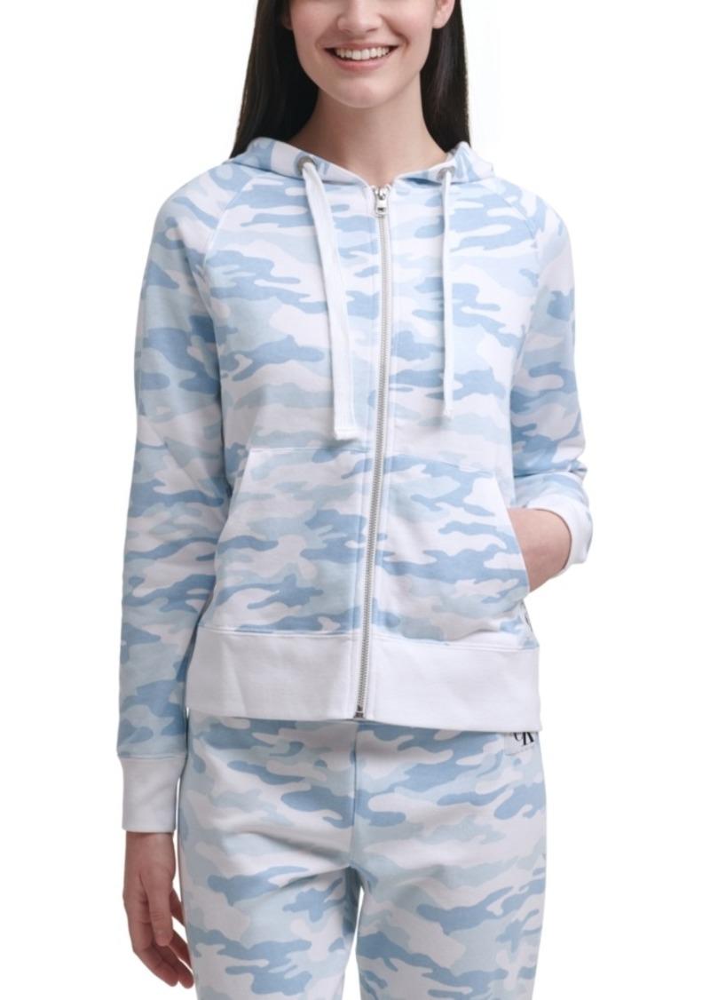Calvin Klein Jeans Camo-Print Zipper Hoodie