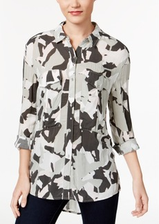 Calvin Klein Jeans Camouflage-Print Shirt