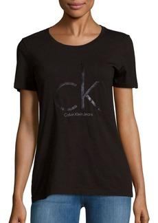 Calvin Klein Jeans Caviar Logo-Printed Tee