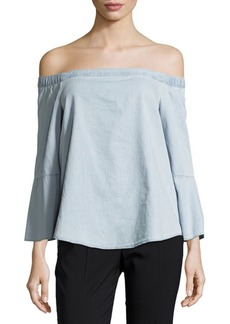 Calvin Klein Jeans Chambray Off-The-Shoulder Top
