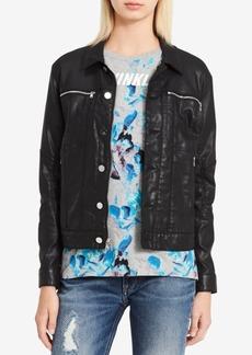 Calvin Klein Jeans Coated Zip-Pocket Denim Jacket