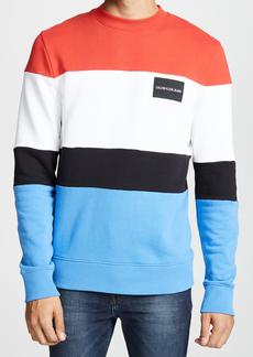 Calvin Klein Jeans Colorblock Box Logo Sweatshirt