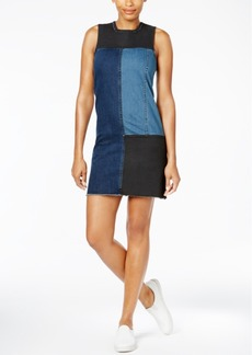 Calvin Klein Jeans Colorblocked Denim Shift Dress