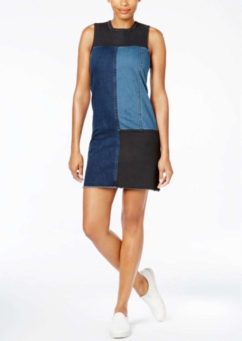 Calvin Klein Jeans Colorblocked Denim Shift Dress