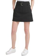 Calvin Klein Jeans Cotton Belted Cargo Skirt