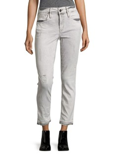 Calvin Klein Jeans Cotton-Blend Distressed Jeans
