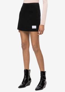 Calvin Klein Jeans Cotton Corduroy Mini Skirt