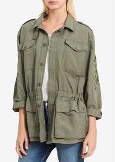 Calvin Klein Jeans Cotton Embroidered Utility Jacket