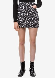 Calvin Klein Jeans Cotton Floral-Print Denim Skirt