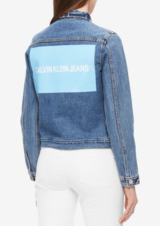 Calvin Klein Jeans Cotton Logo Denim Trucker Jacket