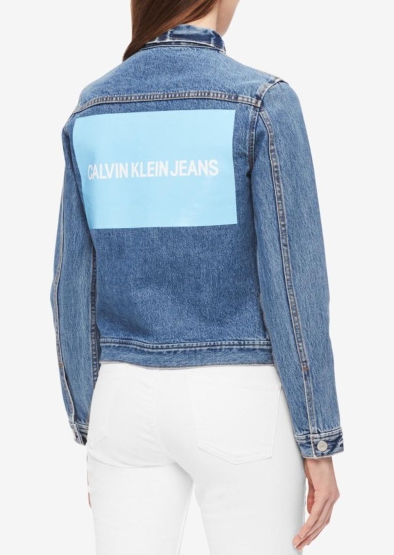 Calvin Klein Jeans Cotton Logo Denim Trucker Jacket