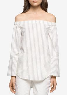 Calvin Klein Jeans Cotton Off-The-Shoulder Top